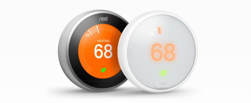 Google Home Hub and Nest Thermostat